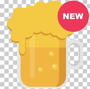 Draught Beer Mousse Beer Head Yellow PNG