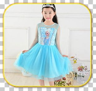 Elsa Anna Party Dress Costume PNG