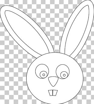 Domestic Rabbit Line Art Drawing Black And White PNG