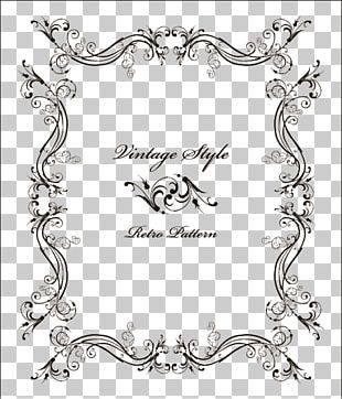 Wedding Invitation Frame Ornament Vintage Clothing PNG