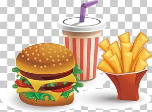 Hamburger Cheeseburger Fast Food French Fries Coca-Cola PNG