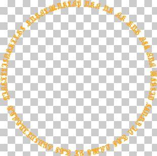 Orange Simple Pattern Circle Border Texture PNG
