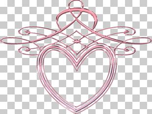 Body Jewellery Line Pink M Heart PNG