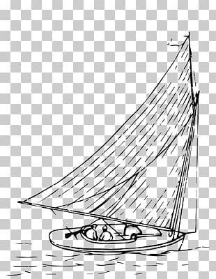 Sail Boat Yawl Drawing Scow PNG
