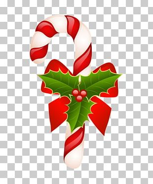 Candy Cane Christmas Ribbon Candy PNG