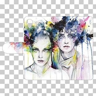 Watercolor Painting Art Portrait Canvas PNG