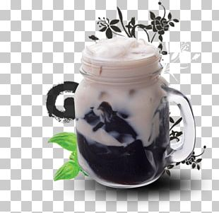 Oolong Grass Jelly Bubble Tea Milk PNG
