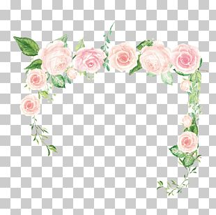 Pink Flower Rose Green PNG
