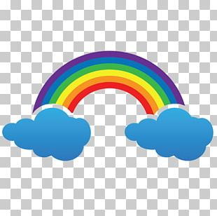 Rainbow Cloud Light PNG