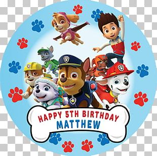 Patrol Birthday Party Favor Dog PNG