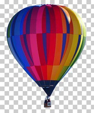 Colourful Hot Air Balloon PNG