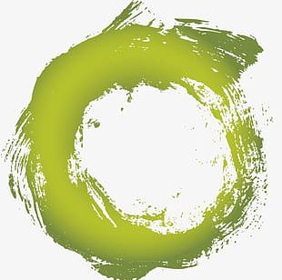 Green Circle Ink PNG