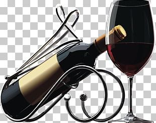 Red Wine Bottle Birthday PNG