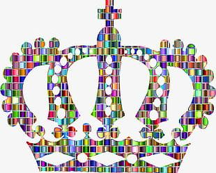 Colorful Crown PNG