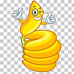 Sticker Banana Fruit Telegram PNG