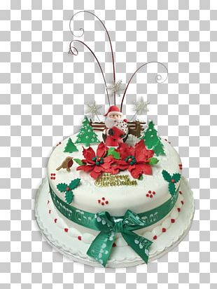 Christmas Cake Birthday Cake Cake Decorating Food PNG