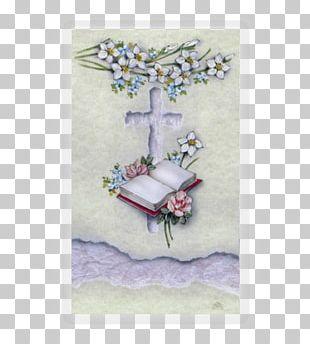 Cross Memorial Symbol Holy Card PNG