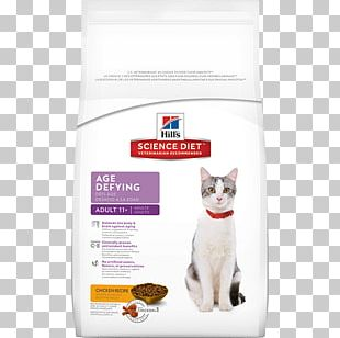 Cat Food Science Diet Senior 11+ Age Defying Cat Dry Food Hill's Pet Nutrition PNG