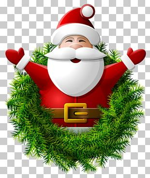 Santa Claus Wreath PNG