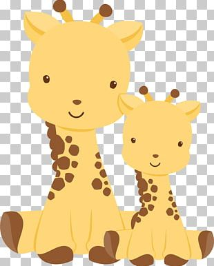 Northern Giraffe Baby Shower Infant Wedding Invitation PNG