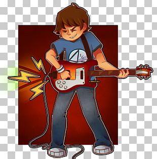 Guitar Cartoon Character Fiction PNG