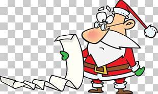 Santa Claus Christmas Wish List PNG