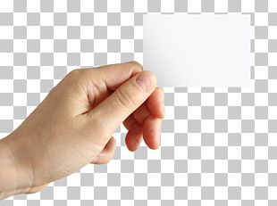 Paper Business Card Holding Company Hand PNG