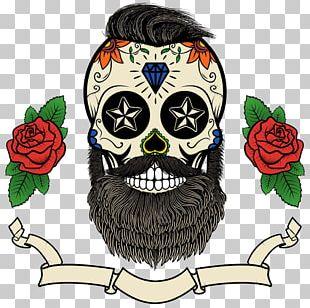 Calavera Beard Skull Day Of The Dead PNG