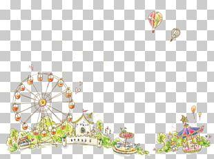 Amusement Park Cartoon Playground Illustration PNG