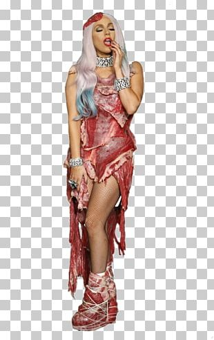 Lady Gaga's Meat Dress The Fame Christmas Tree PNG