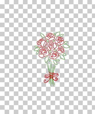 Flower Bouquet Drawing Floral Design Sketch PNG