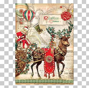 Christmas Ornament Reindeer Santa Claus Christmas Card Greeting & Note Cards PNG