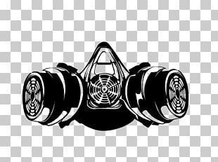 Gas Mask Respirator Silhouette Drawing PNG