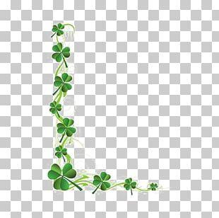 Saint Patricks Day Shamrock Four-leaf Clover PNG