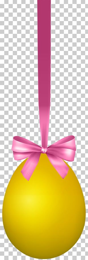Yellow Easter Egg Design PNG
