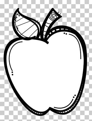 Black And White Apple PNG