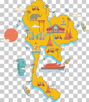 Thailand Map Poster PNG