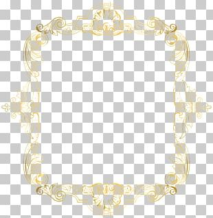 Text Frame Yellow Pattern PNG