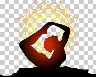 Yoga Physical Exercise Wall Decal Sunset PNG