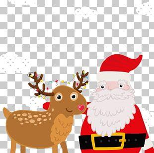 Rudolph Santa Claus Reindeer Christmas PNG