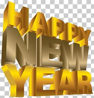 Happy New Year Movie Letters PNG