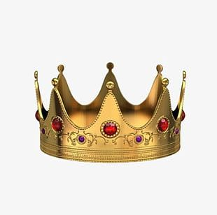 Red Orb Gold Crown PNG