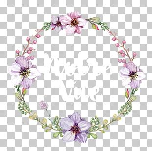 Flower Wreath Watercolor Painting Crown Etsy PNG