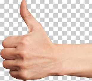 Isolated Thumb Up Finger PNG