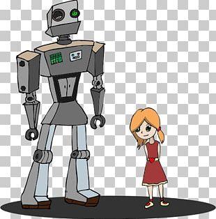 Robot Cartoon Girl PNG