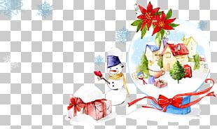 Christmas Ornament Gift Snowman Illustration PNG