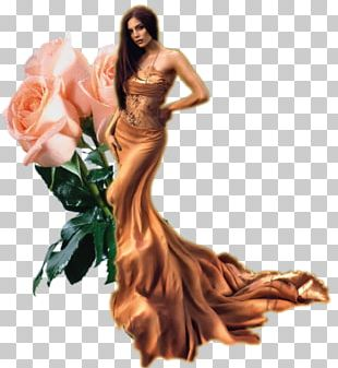 Gown Fashion Model M Keyboard Beach Rose PNG
