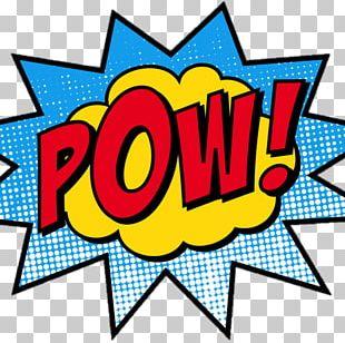 Comic Book Superhero Pop Art PNG