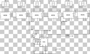 Digital Clock Digital Data Electronic Circuit Counter PNG
