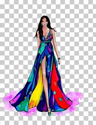 Fashion Illustration Model Fashion Design PNG